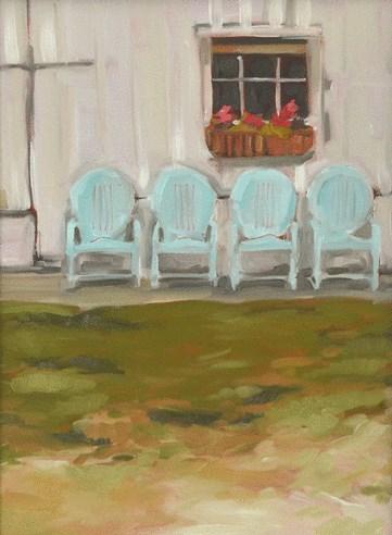 """""""Pick a Seat"""" original fine art by Jessica Green"""