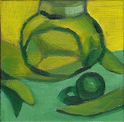 """A Study In Green"" original fine art by J M Needham"