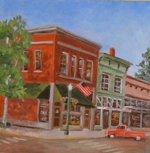 """Our Town"" original fine art by Robert Frankis"