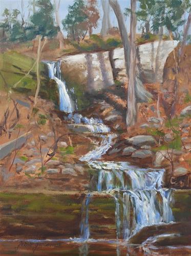 """""""Spring Cascade"""" original fine art by Jamie Williams Grossman"""