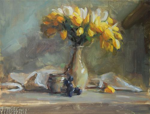 """Tulips in Light"" original fine art by Patricia Nebbeling"