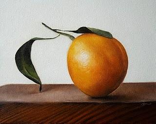 """""""Leaning Tangerine"""" original fine art by Jonathan Aller"""