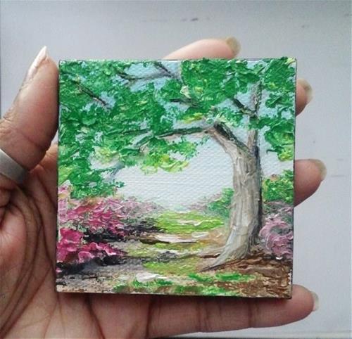 """Tree by Pathway"" original fine art by Camille Morgan"
