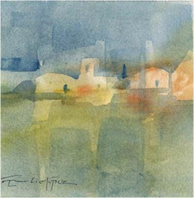 """paisaje 75"" original fine art by Emilio López"