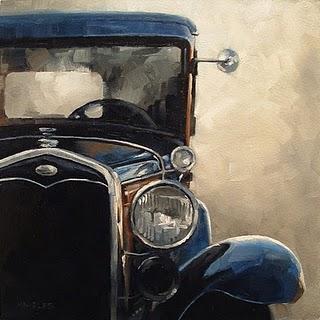 """""""Antique Auto"""" original fine art by Michael Naples"""