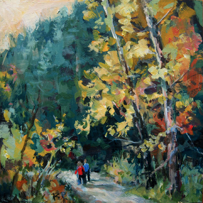 """Quiet Road"" original fine art by Robin Peterson"