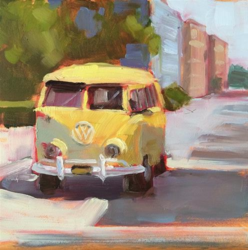 """Mellow Yellow"" original fine art by Deborah Newman"