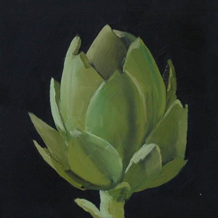 """BABY ARTICHOKE"" original fine art by Linda Popple"