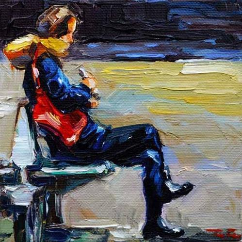 """""""Die rote Tasche"""" original fine art by Jurij Frey"""