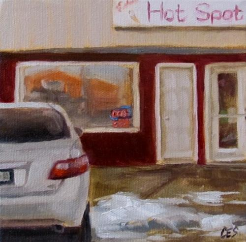 """Hot Spot on a Cold Day"" original fine art by ~ces~ Christine E. S. Code"