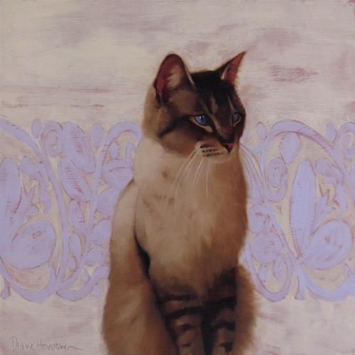"""Siamese on Pattern and Happy July 4th!"" original fine art by Diane Hoeptner"