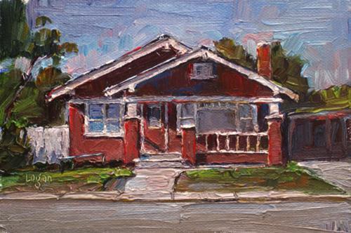 """Re SLO House on Higuera"" original fine art by Raymond Logan"