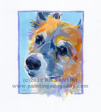 """Shadow, A Painted Sketch"" original fine art by Kimberly Santini"