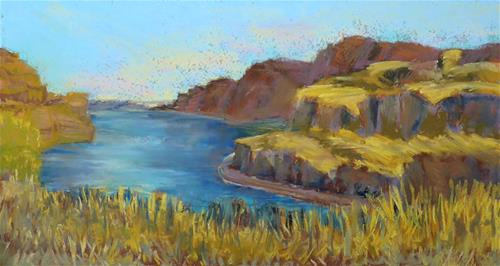 """Columbia River"" original fine art by Mary Weil"