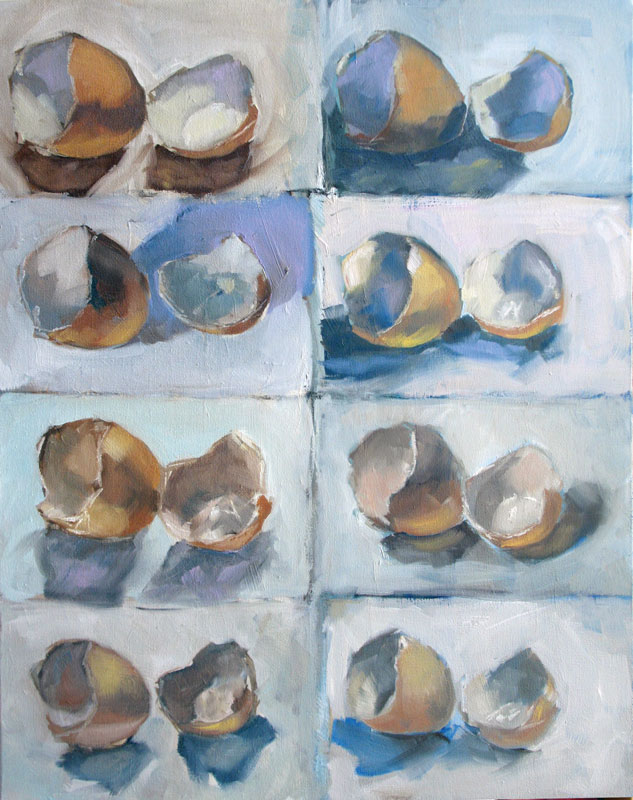 """8 Egg Studies"" original fine art by Clair Hartmann"
