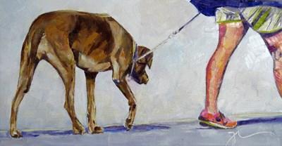 """Walking Mimi"" original fine art by Gigi De"