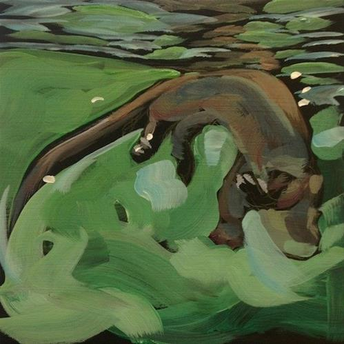 """Otter Drift"" original fine art by Kat Corrigan"