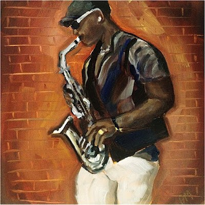 """Afternoon Sax"" original fine art by Piya Samant"