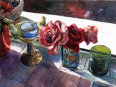 """Watercolor: Three Tenors"" original fine art by Belinda Del Pesco"