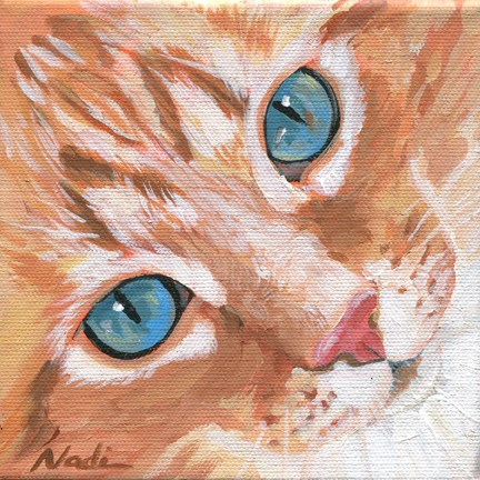 """Cat eyes 6"" original fine art by Nadi Spencer"