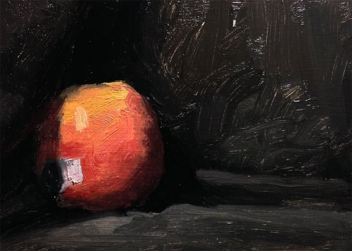 """Apple 2"" original fine art by Chris Beaven"