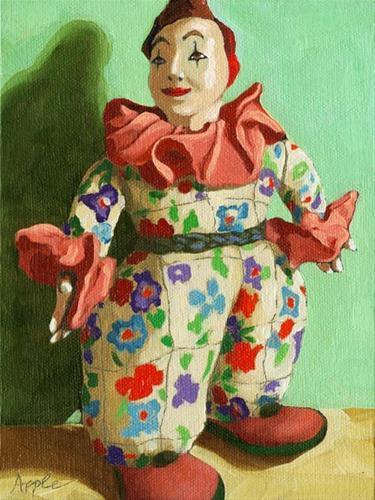 """Antique Clown"" original fine art by Linda Apple"
