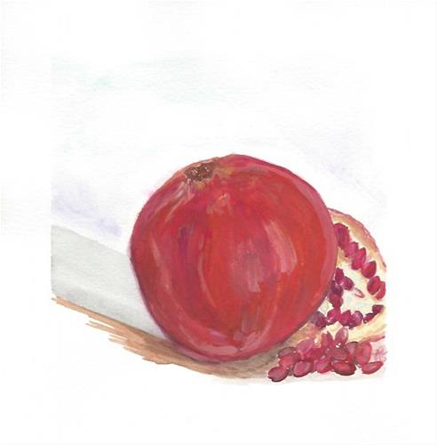 """Pomegranate"" original fine art by Laura Denning"