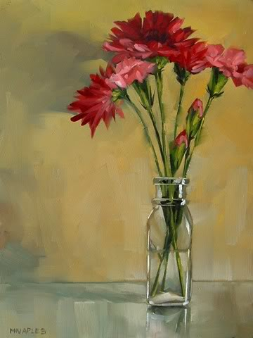 """Pink Mums"" original fine art by Michael Naples"