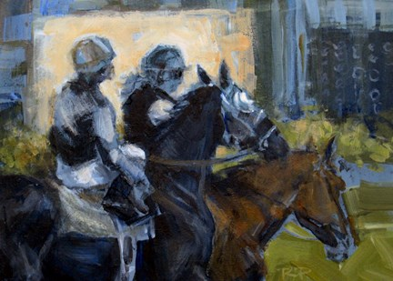 """First Race"" original fine art by Robin Peterson"