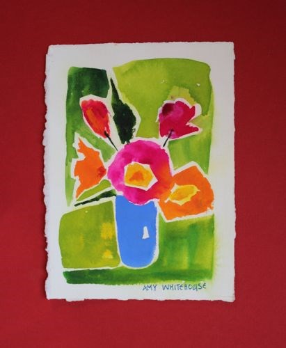"""Abstract Flowers, Contemporary Floral Paintings by Arizona Artist Amy Whitehouse"" original fine art by Amy Whitehouse"