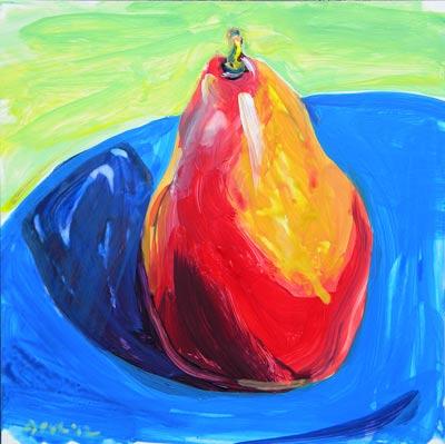"""Pear 3"" original fine art by Pam Van Londen"