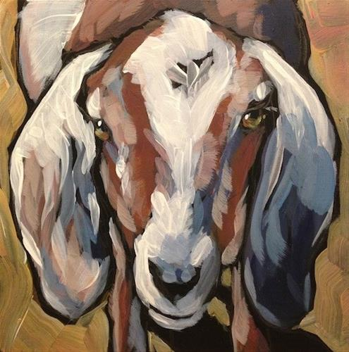 """Calm As A Goat"" original fine art by Kat Corrigan"