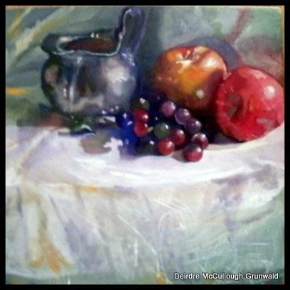 """Pewter Pitcher"" original fine art by Deirdre McCullough Grunwald"