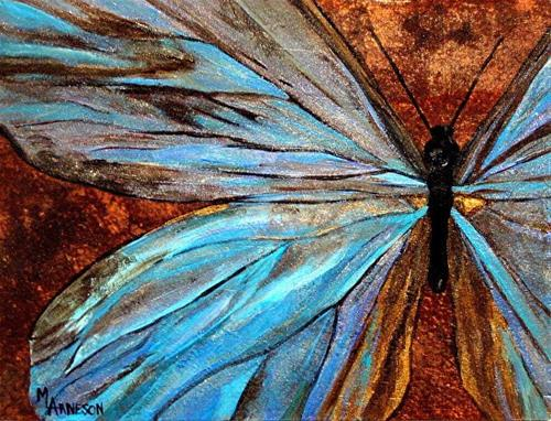 """""""Nature, Butterfly Fine Art Painting """"Gossamer Wings""""  by Mary Arneson Art-Works of Whimsy"""" original fine art by Mary Arneson"""
