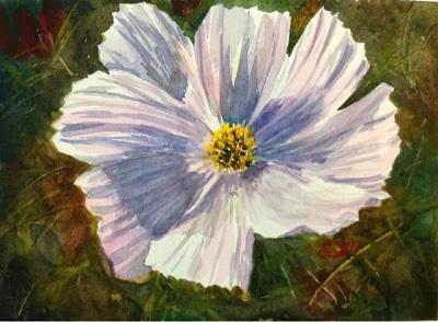"""Day 25 - White Cosmos"" original fine art by Lyn Gill"