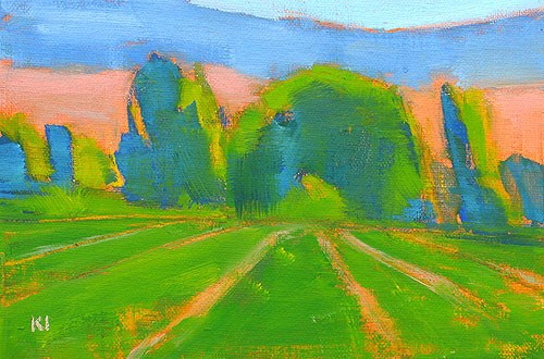 """Boise Summer Landscape"" original fine art by Kevin Inman"