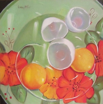 """Yolko Oh No, Oil Painting by Linda McCoy"" original fine art by Linda McCoy"