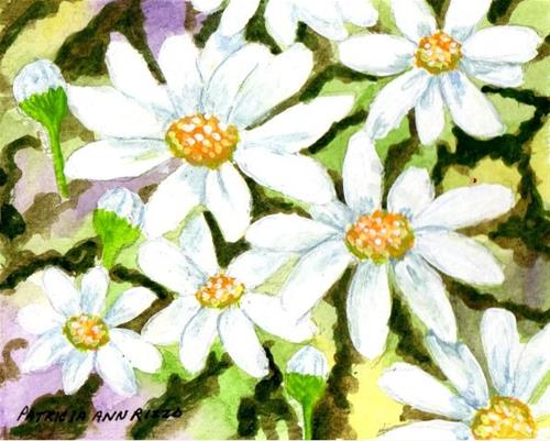 """Doodling Some Daisies"" original fine art by Patricia Ann Rizzo"