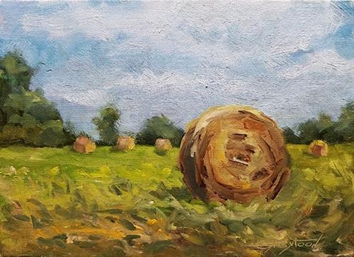"""A Rural Landscape"" original fine art by Gabriella DeLamater"