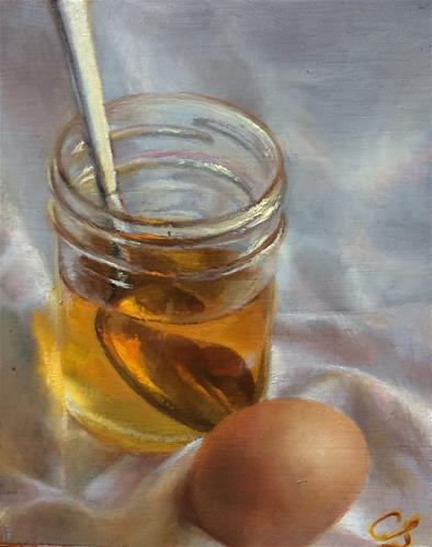 """Jamie's Honey"" original fine art by Claudia Selene"