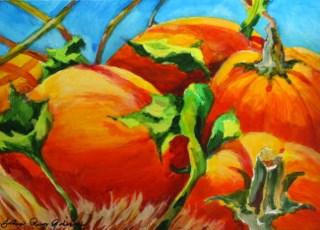 """Pumpkin Pie Parts"" original fine art by JoAnne Perez Robinson"
