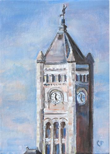 """Nashville Union Station"" original fine art by Carol DeMumbrum"