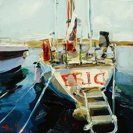"""Auf der Yacht"" original fine art by Jurij Frey"