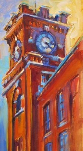 """Clock Tower"" original fine art by Karen Bruson"