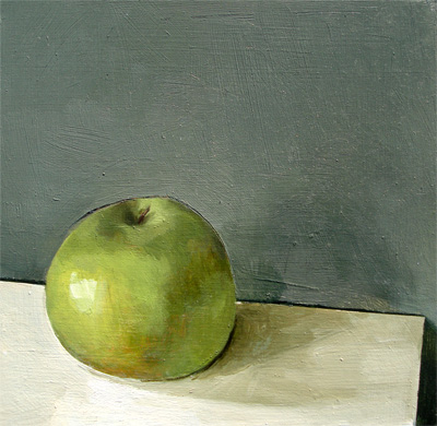 """Granny Smith on Desk"" original fine art by Michael William"