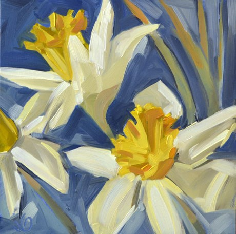 """Daffodils"" original fine art by Jessica Green"