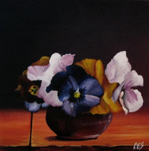 """Pansy Bouquet"" original fine art by ~ces~ Christine E. S. Code"