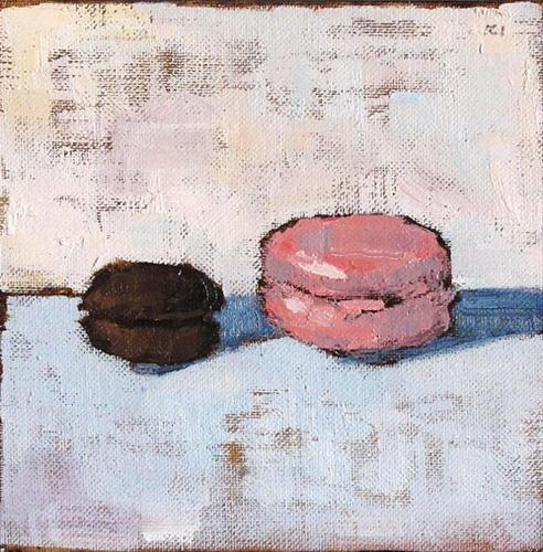 """French Macarons- Still Life Painting"" original fine art by Kevin Inman"