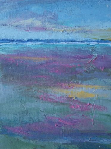 """Afternoon Reflections, Beach and Ocean Paintings by Arizona Artist Amy Whitehouse"" original fine art by Amy Whitehouse"