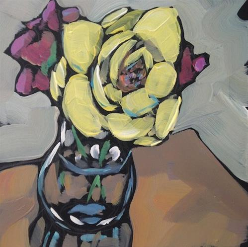 """The Last Rose"" original fine art by Kat Corrigan"